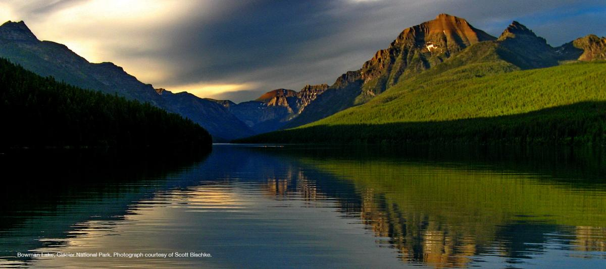 Bowman Lake, Glacier National Park. Photograph courtesy of Scott Bischke.